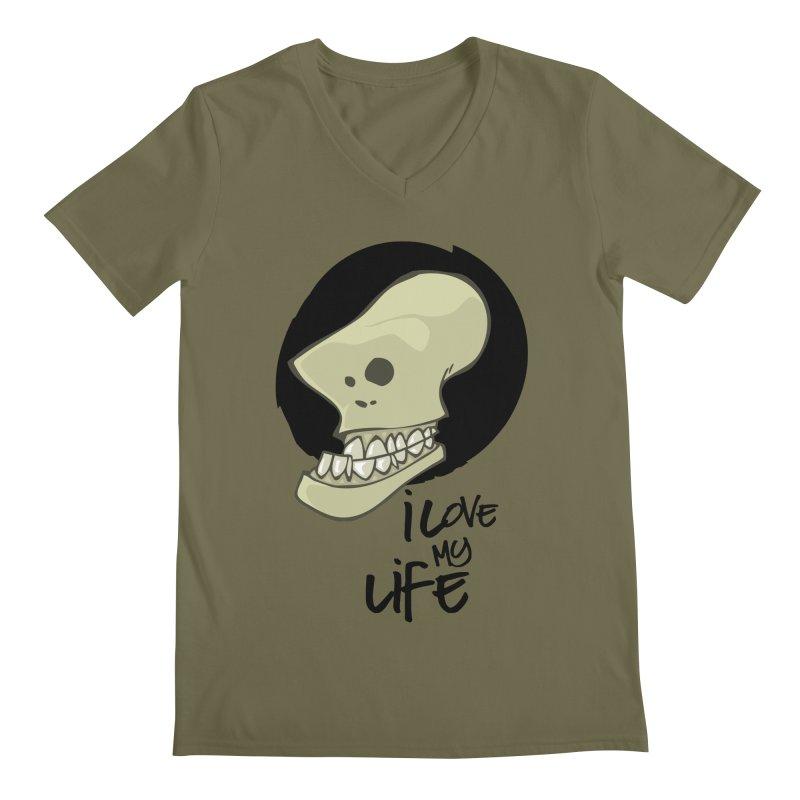 I love my life Men's V-Neck by lepetitcalamar's Artist Shop