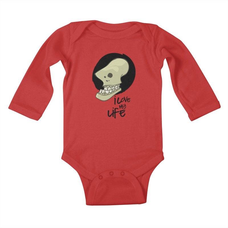 I love my life Kids Baby Longsleeve Bodysuit by lepetitcalamar's Artist Shop