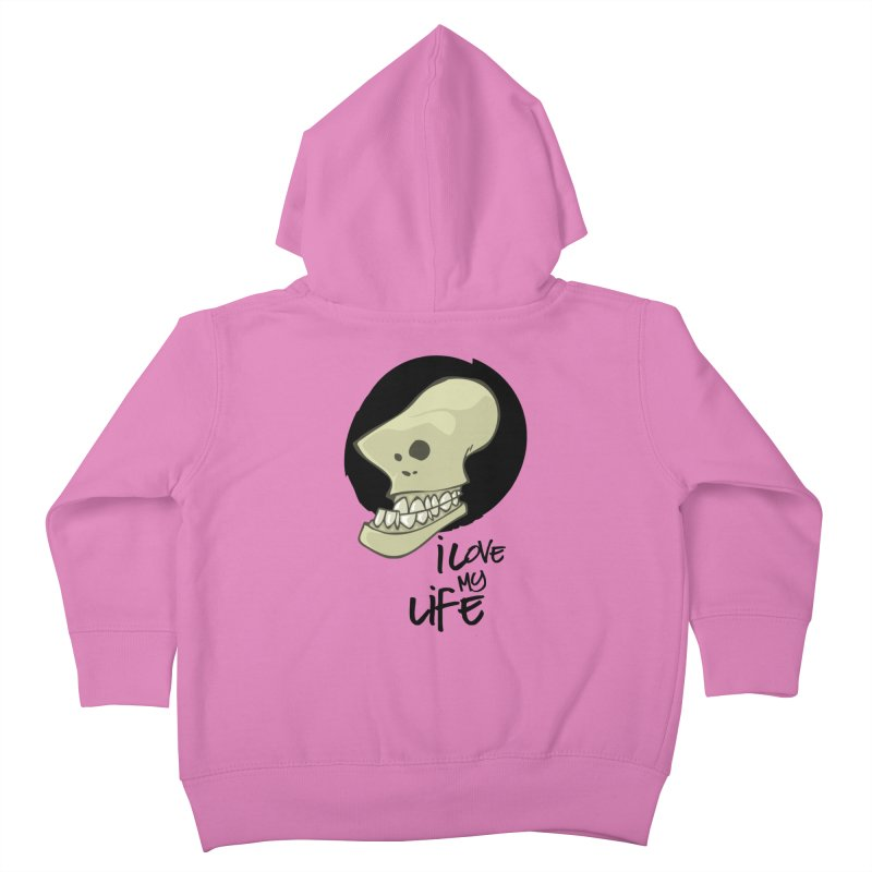 I love my life Kids Toddler Zip-Up Hoody by lepetitcalamar's Artist Shop