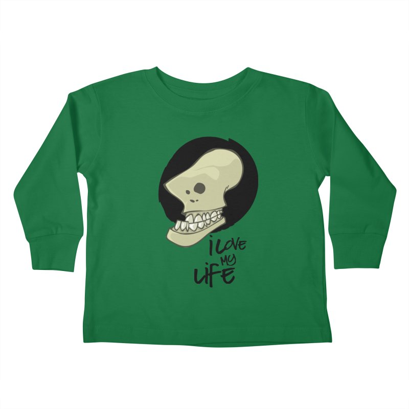 I love my life Kids Toddler Longsleeve T-Shirt by lepetitcalamar's Artist Shop