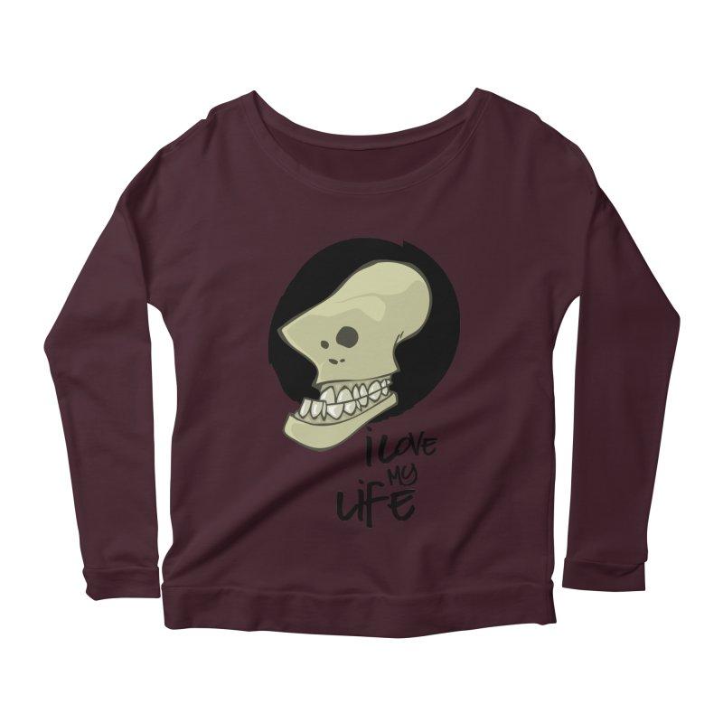 I love my life Women's Scoop Neck Longsleeve T-Shirt by lepetitcalamar's Artist Shop