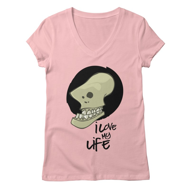 I love my life Women's Regular V-Neck by lepetitcalamar's Artist Shop