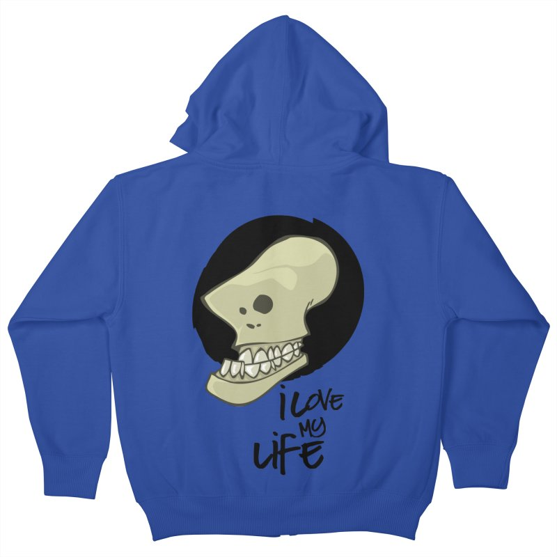 I love my life Kids Zip-Up Hoody by lepetitcalamar's Artist Shop
