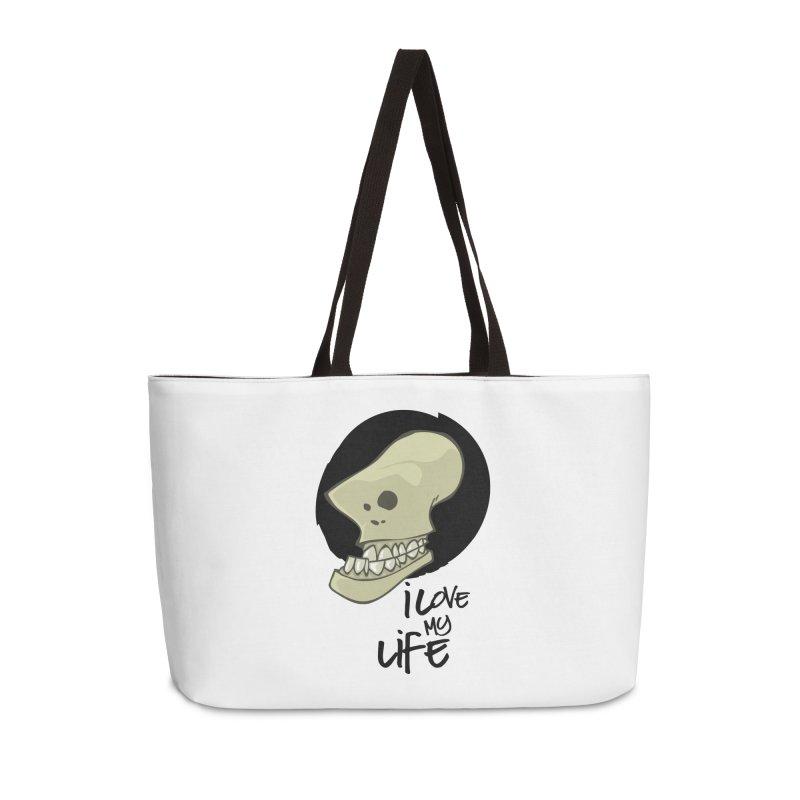 I love my life Accessories Weekender Bag Bag by lepetitcalamar's Artist Shop