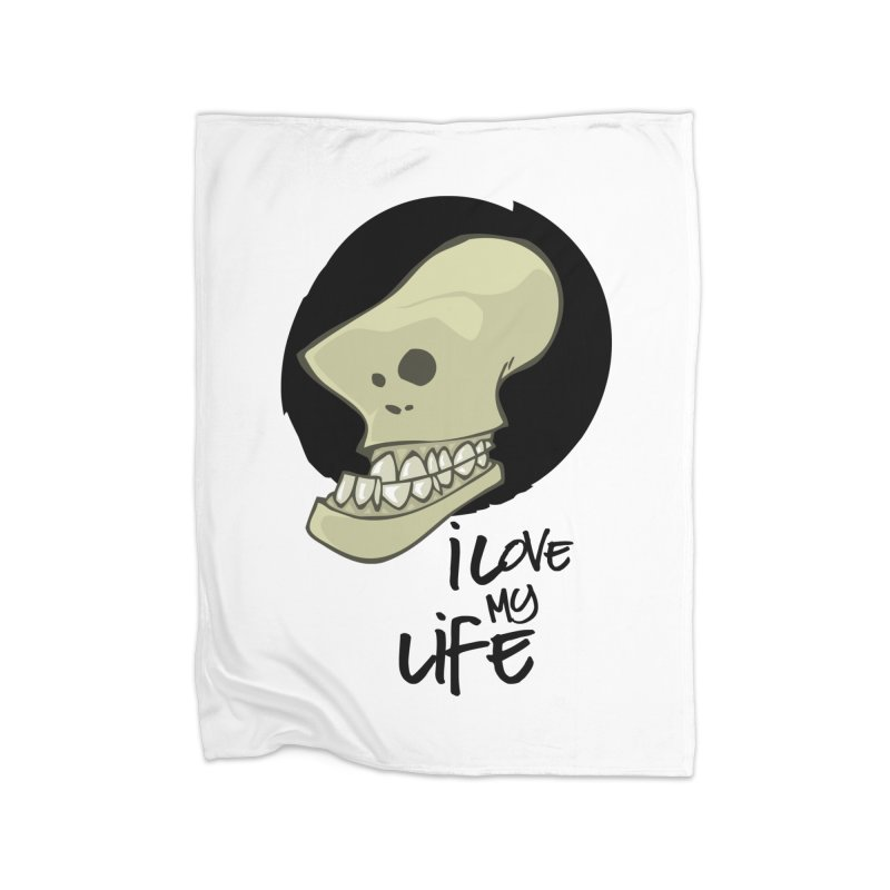 I love my life Home Fleece Blanket Blanket by lepetitcalamar's Artist Shop