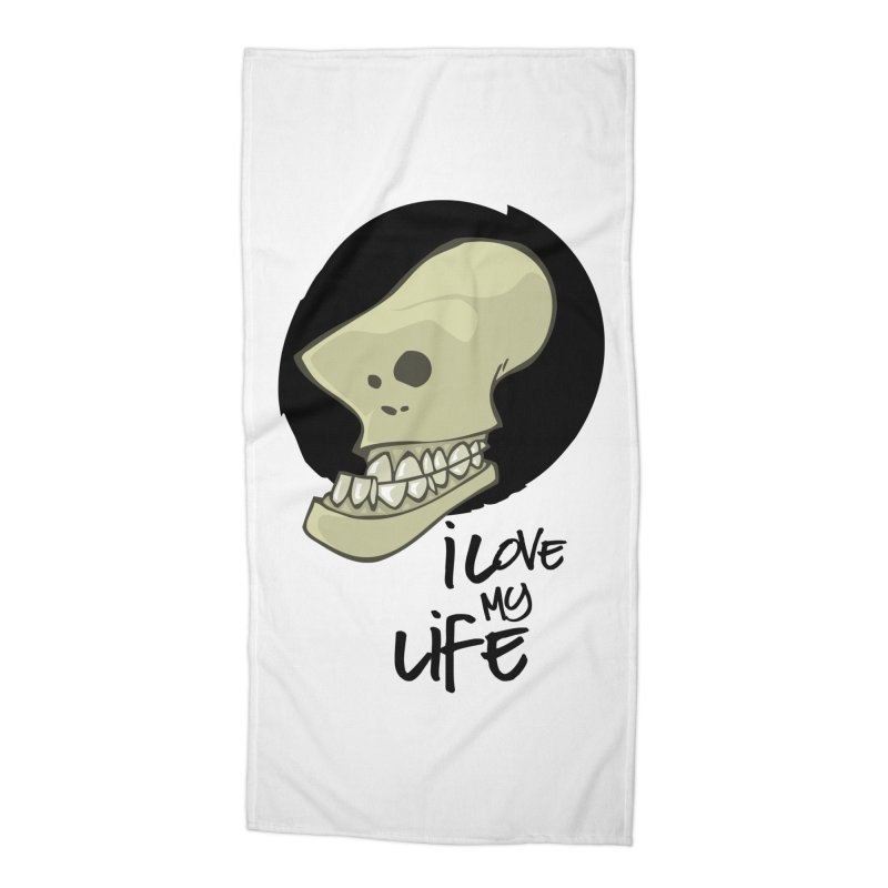 I love my life Accessories Beach Towel by lepetitcalamar's Artist Shop