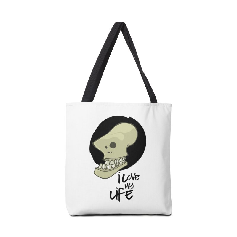 I love my life Accessories Bag by lepetitcalamar's Artist Shop