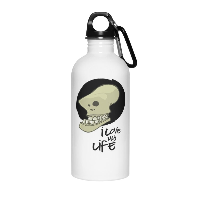 I love my life Accessories Water Bottle by lepetitcalamar's Artist Shop