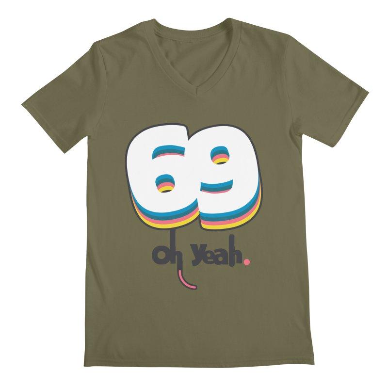 69 oh oui Men's Regular V-Neck by lepetitcalamar's Artist Shop