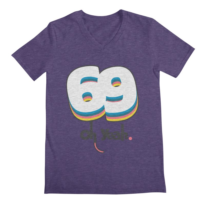 69 oh oui Men's V-Neck by lepetitcalamar's Artist Shop