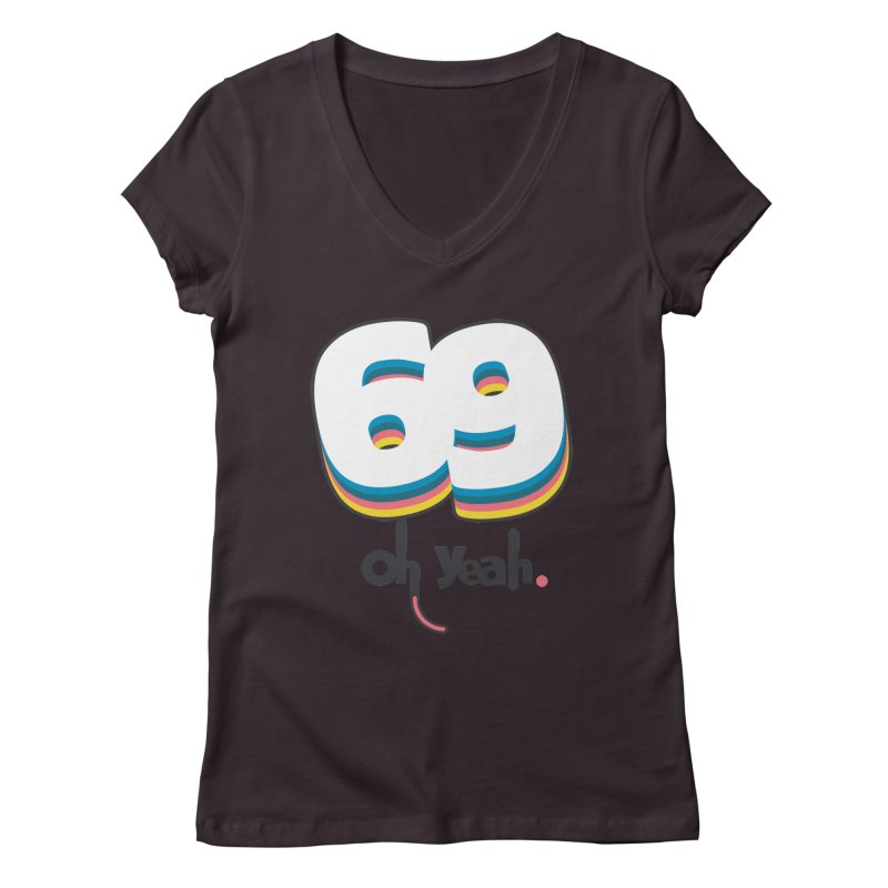69 oh oui Women's V-Neck by lepetitcalamar's Artist Shop