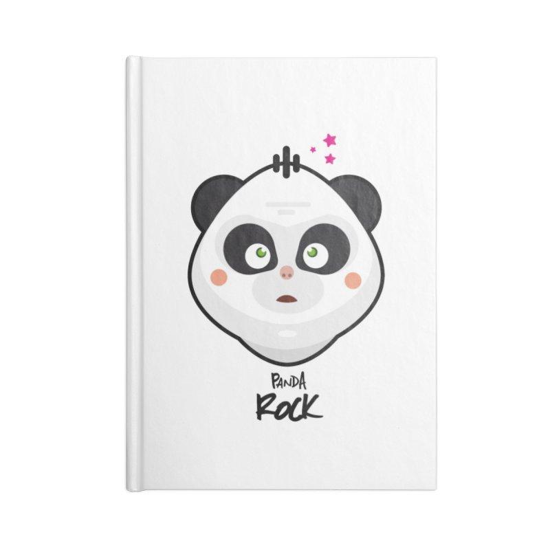 Panda roche Accessories Blank Journal Notebook by lepetitcalamar's Artist Shop