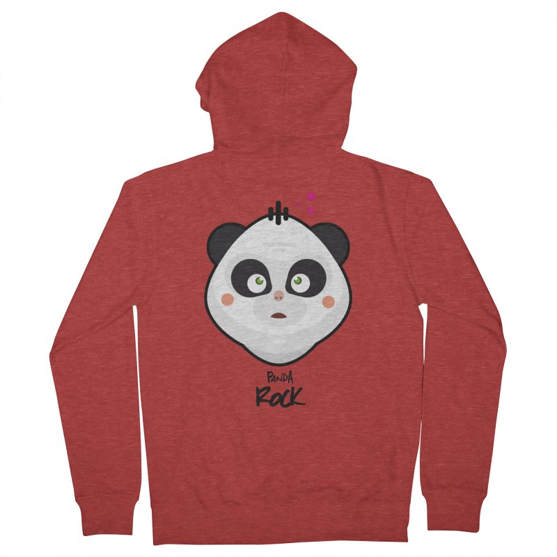 Panda roche Women's French Terry Zip-Up Hoody by lepetitcalamar's Artist Shop