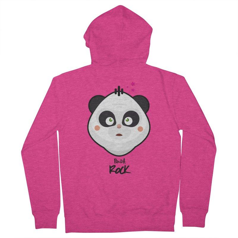 Panda roche Women's French Terry Zip-Up Hoody by lepetitcalamar's Artist Shop