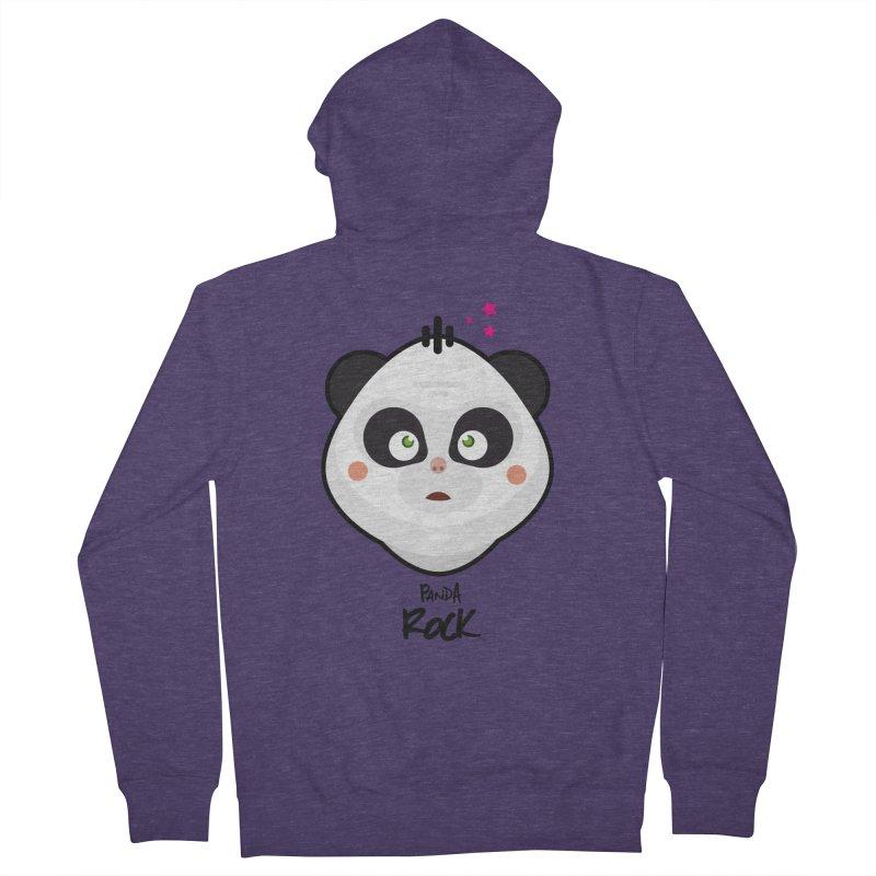 Panda roche Men's Zip-Up Hoody by lepetitcalamar's Artist Shop