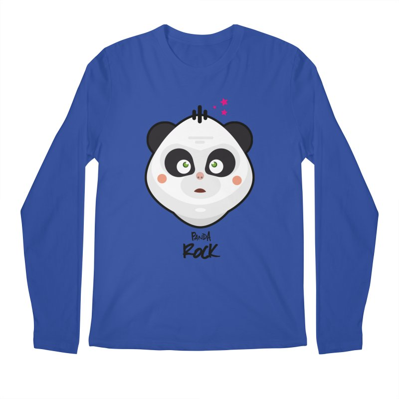 Panda roche Men's Regular Longsleeve T-Shirt by lepetitcalamar's Artist Shop