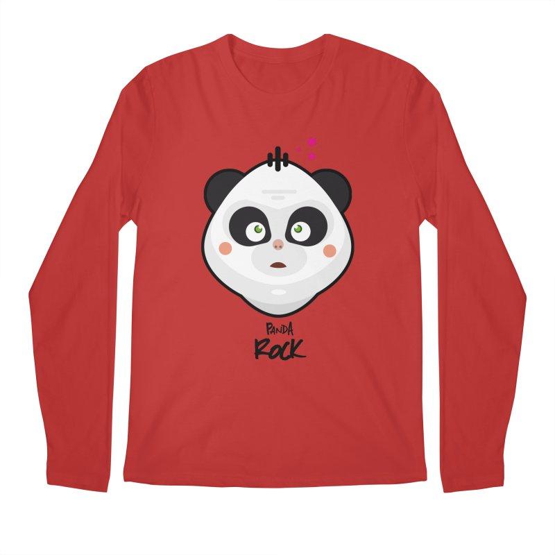 Panda roche Men's Longsleeve T-Shirt by lepetitcalamar's Artist Shop
