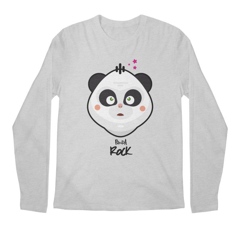 Panda roche Men's Regular Longsleeve T-Shirt by lepetitcalamar's Artist Shop