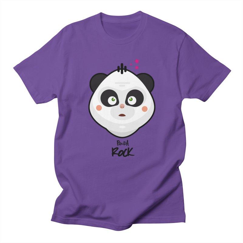 Panda roche Men's Regular T-Shirt by lepetitcalamar's Artist Shop