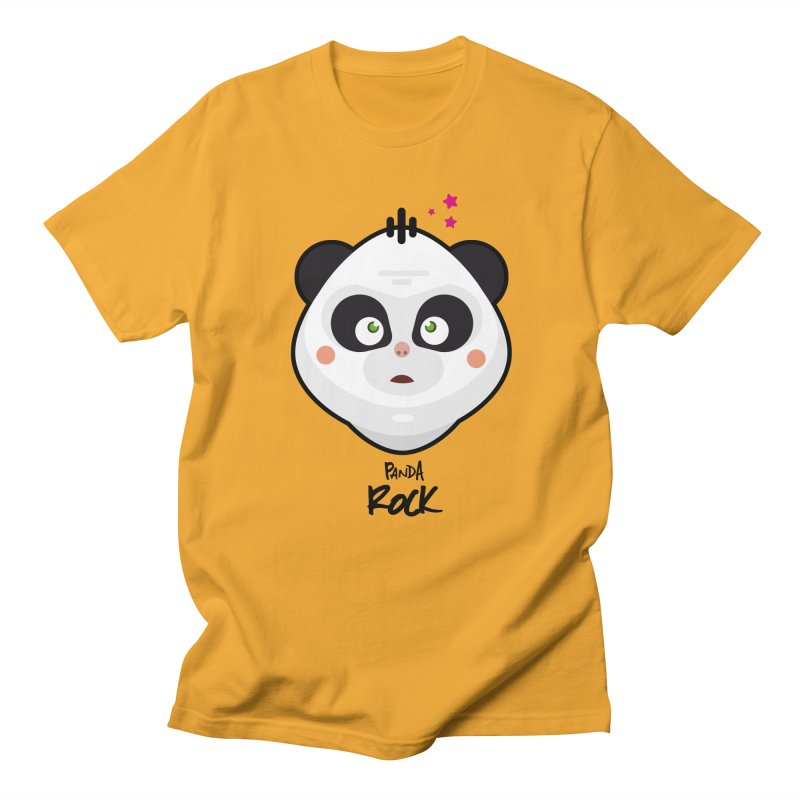 Panda roche Men's T-shirt by lepetitcalamar's Artist Shop