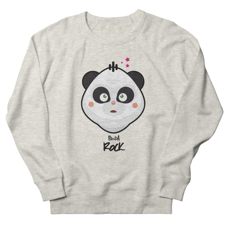 Panda roche Women's French Terry Sweatshirt by lepetitcalamar's Artist Shop