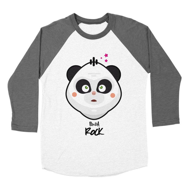 Panda roche Women's Baseball Triblend T-Shirt by lepetitcalamar's Artist Shop