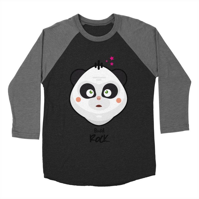 Panda roche Men's Baseball Triblend Longsleeve T-Shirt by lepetitcalamar's Artist Shop