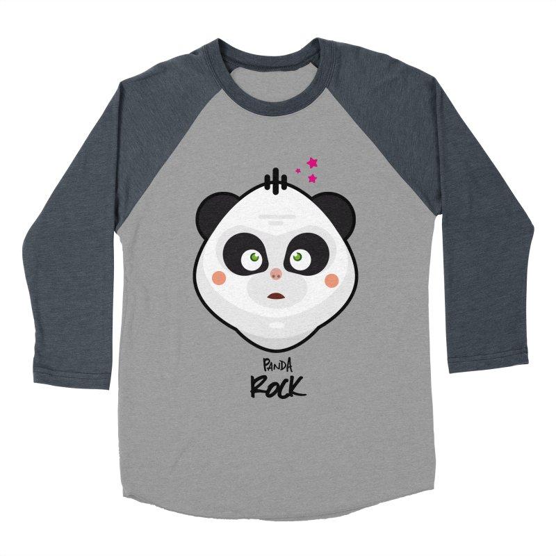 Panda roche Men's Baseball Triblend T-Shirt by lepetitcalamar's Artist Shop