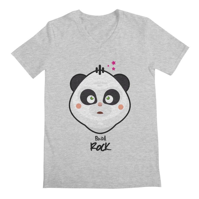Panda roche Men's V-Neck by lepetitcalamar's Artist Shop