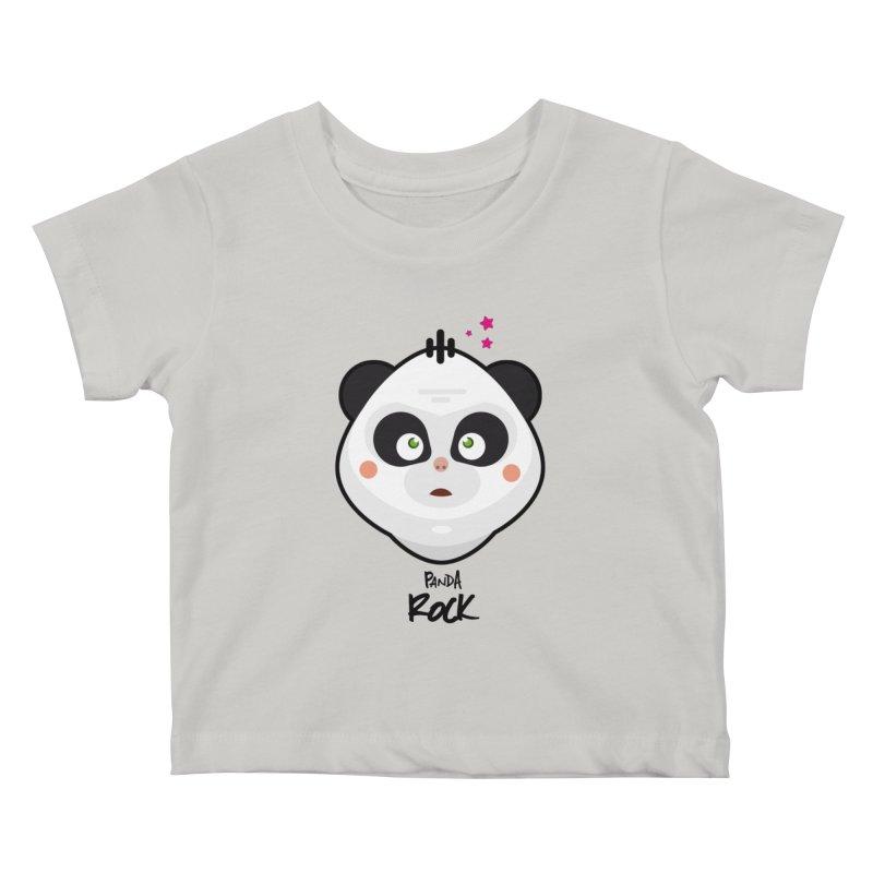 Panda roche Kids Baby T-Shirt by lepetitcalamar's Artist Shop