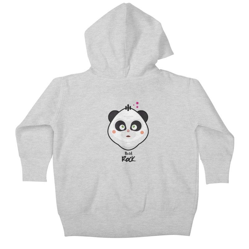 Panda roche Kids Baby Zip-Up Hoody by lepetitcalamar's Artist Shop