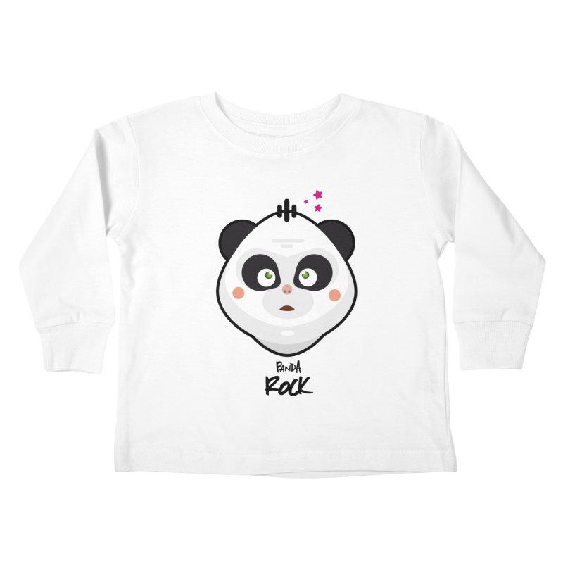 Panda roche Kids Toddler Longsleeve T-Shirt by lepetitcalamar's Artist Shop
