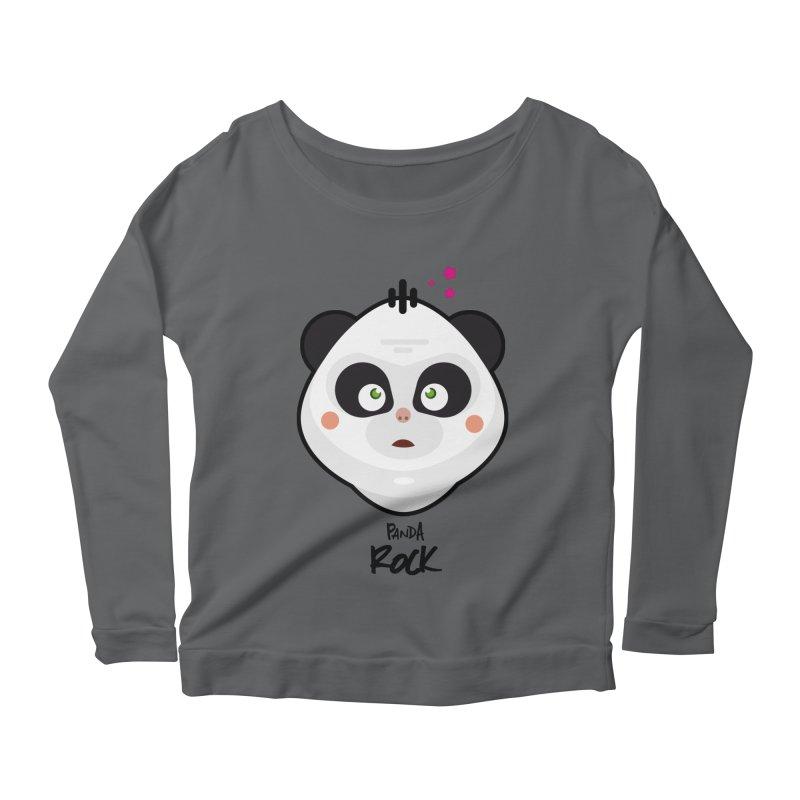 Panda roche Women's Scoop Neck Longsleeve T-Shirt by lepetitcalamar's Artist Shop