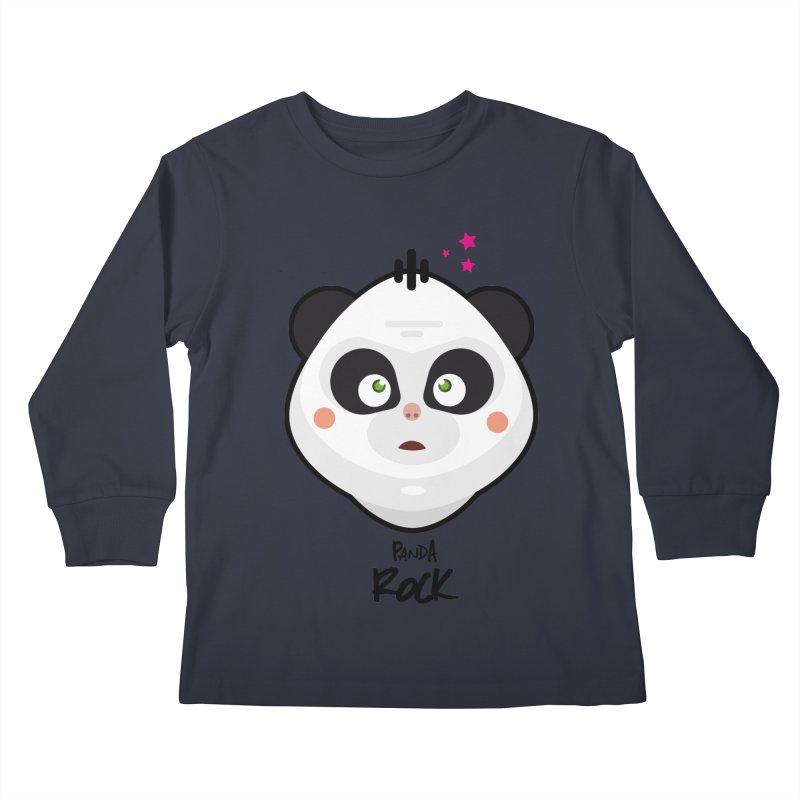 Panda roche Kids Longsleeve T-Shirt by lepetitcalamar's Artist Shop