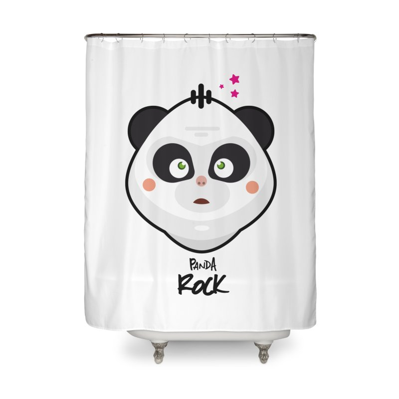 Panda roche Home Shower Curtain by lepetitcalamar's Artist Shop