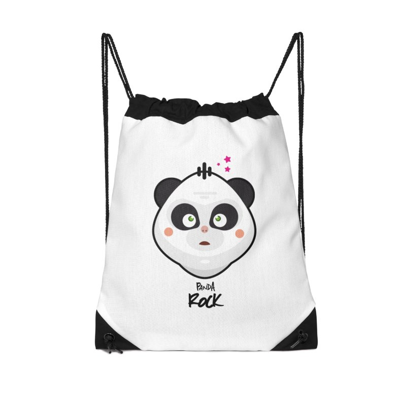 Panda roche Accessories Drawstring Bag Bag by lepetitcalamar's Artist Shop