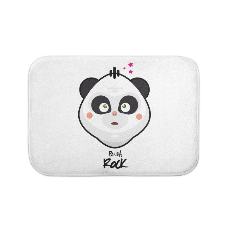 Panda roche Home Bath Mat by lepetitcalamar's Artist Shop