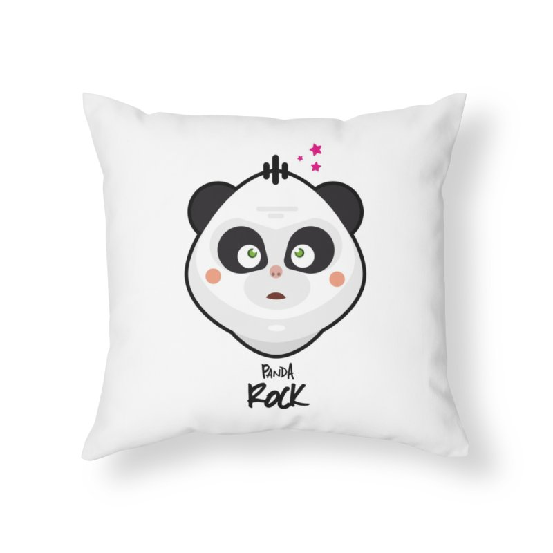 Panda roche Home Throw Pillow by lepetitcalamar's Artist Shop