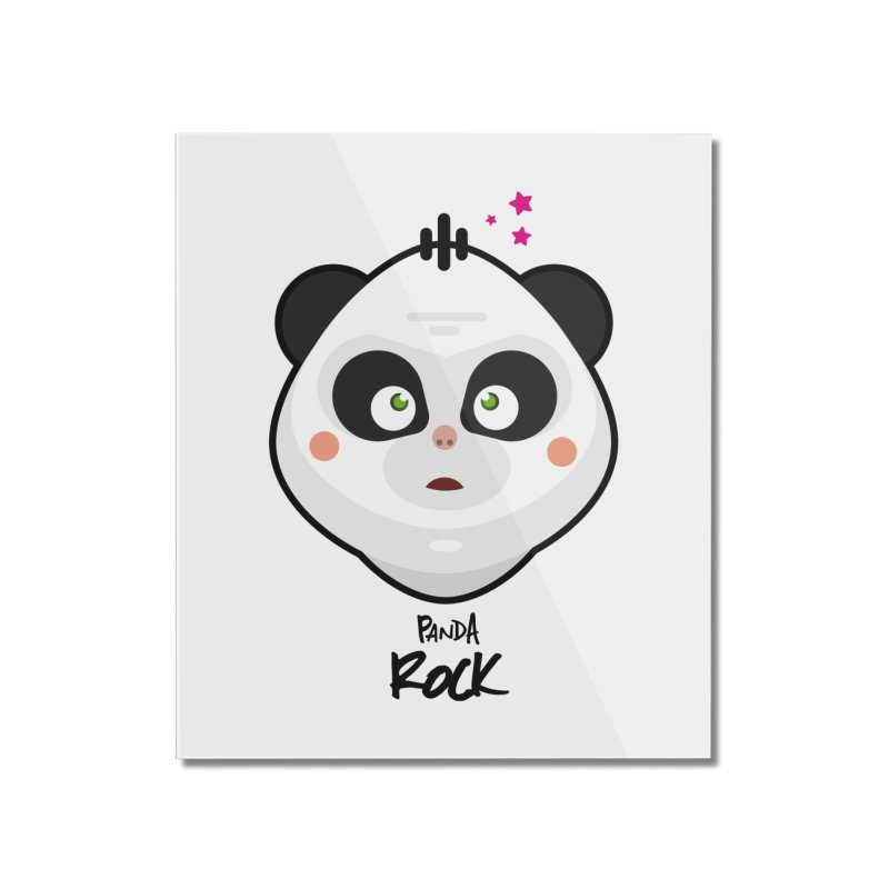 Panda roche Home Mounted Acrylic Print by lepetitcalamar's Artist Shop
