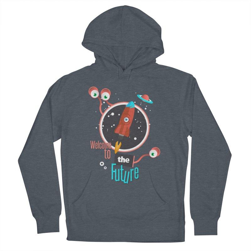 Bienvenue dans le futur Men's Pullover Hoody by lepetitcalamar's Artist Shop