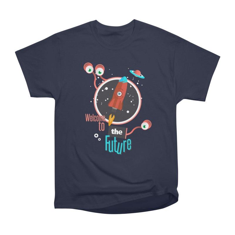 Bienvenue dans le futur Women's Heavyweight Unisex T-Shirt by lepetitcalamar's Artist Shop
