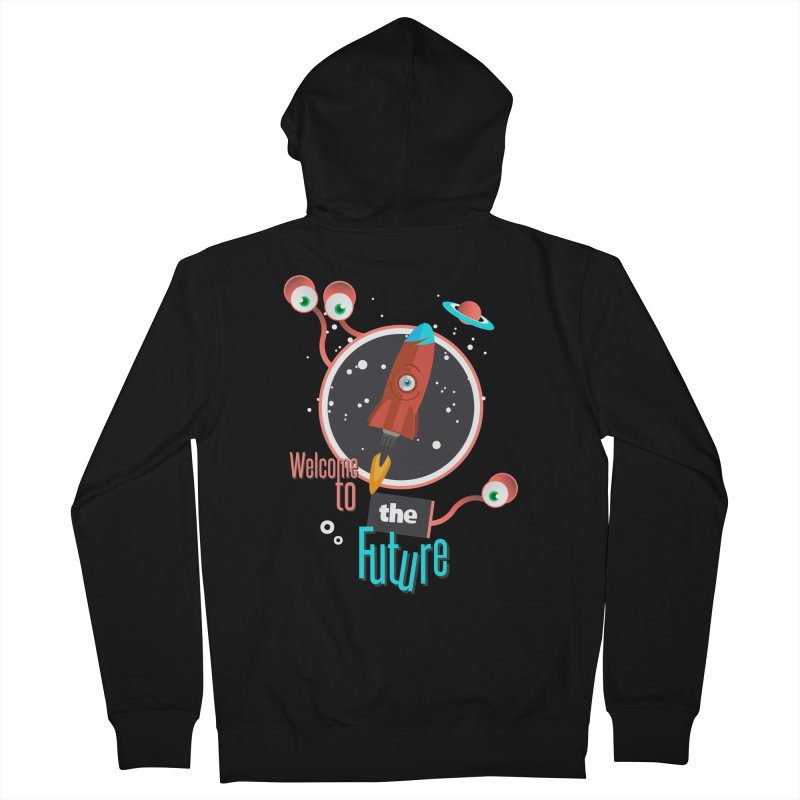 Bienvenue dans le futur Men's French Terry Zip-Up Hoody by lepetitcalamar's Artist Shop