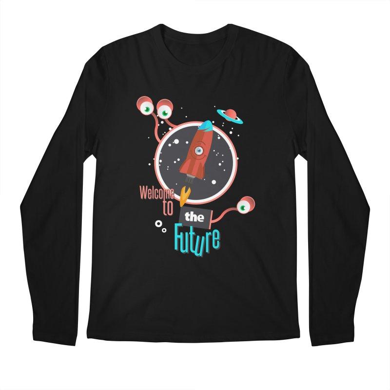 Bienvenue dans le futur Men's Longsleeve T-Shirt by lepetitcalamar's Artist Shop