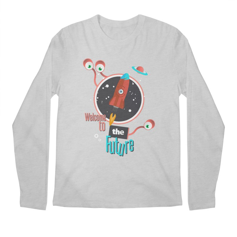 Bienvenue dans le futur Men's Regular Longsleeve T-Shirt by lepetitcalamar's Artist Shop