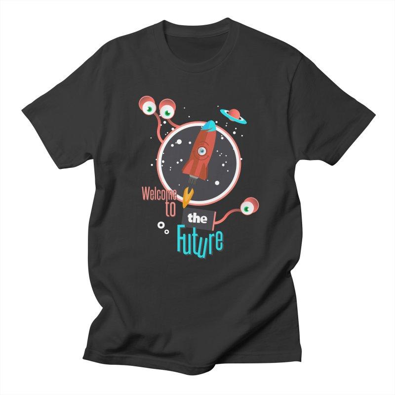 Bienvenue dans le futur Men's Regular T-Shirt by lepetitcalamar's Artist Shop