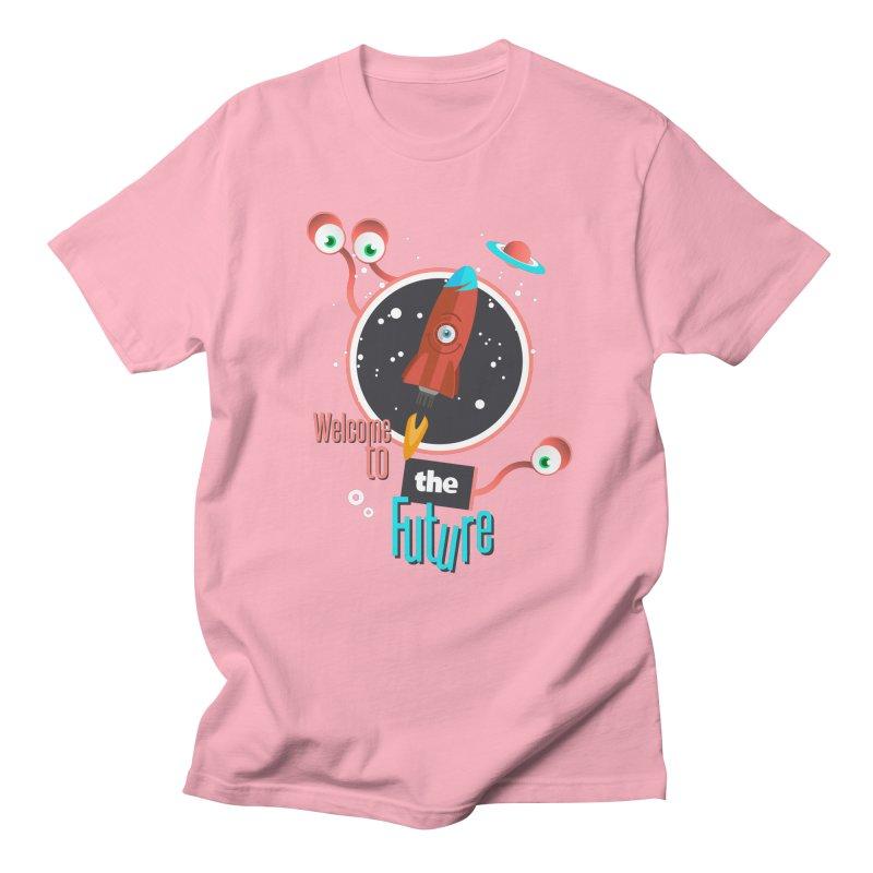 Bienvenue dans le futur Women's Regular Unisex T-Shirt by lepetitcalamar's Artist Shop