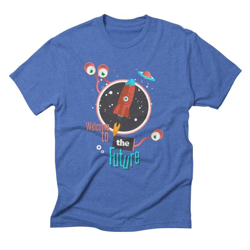 Bienvenue dans le futur Men's Triblend T-Shirt by lepetitcalamar's Artist Shop