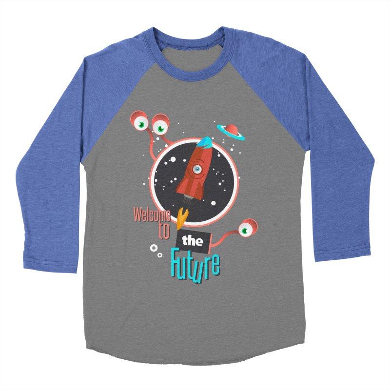 Bienvenue dans le futur Women's Baseball Triblend Longsleeve T-Shirt by lepetitcalamar's Artist Shop