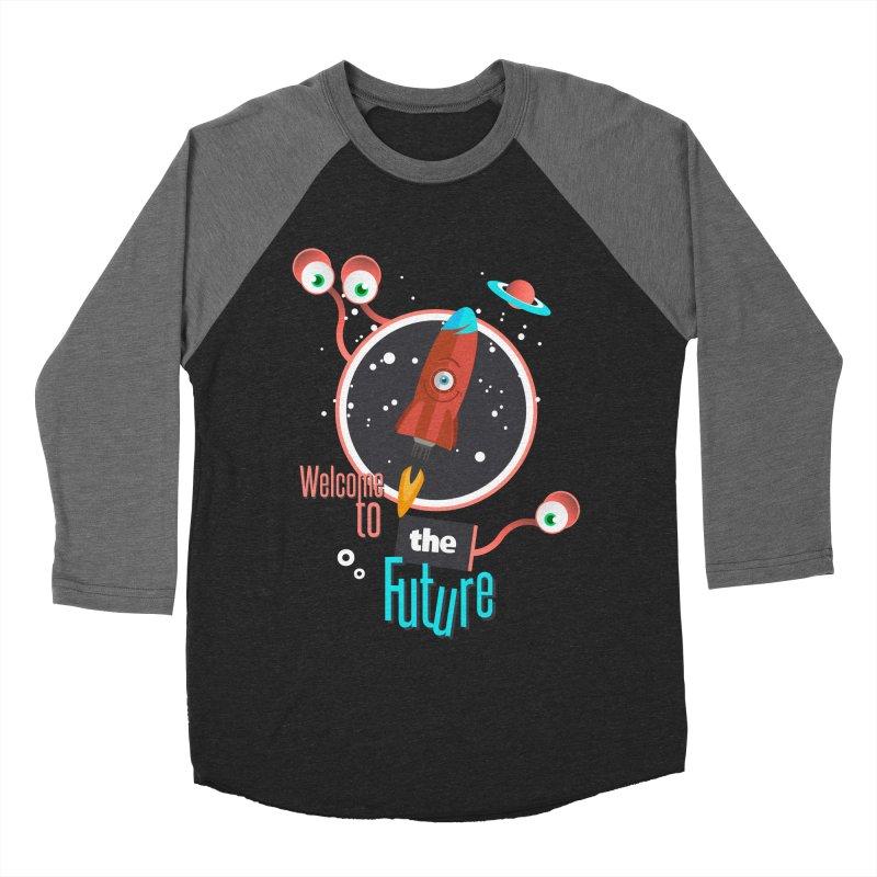 Bienvenue dans le futur Women's Baseball Triblend T-Shirt by lepetitcalamar's Artist Shop