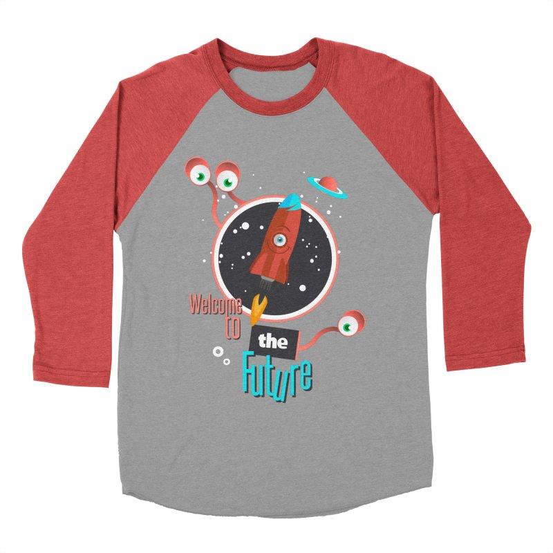 Bienvenue dans le futur Men's Baseball Triblend T-Shirt by lepetitcalamar's Artist Shop